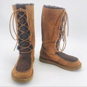 a2d93b1398e Women Ugg Lace Up Tall Boots on Poshmark